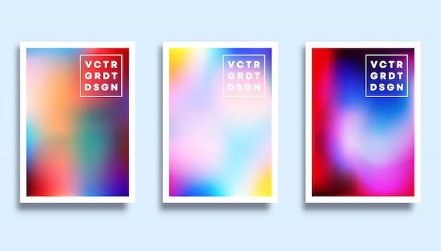 Set di uno sfondo colorato trama sfumata per la copertina