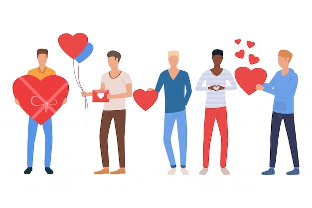 Set di uomini innamorati