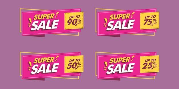 Set di vari banner di vendita