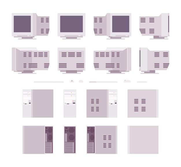 Set di vecchi personal computer