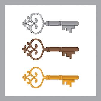 Set di vecchia chiave
