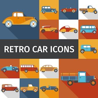 Set di vecchie automobili
