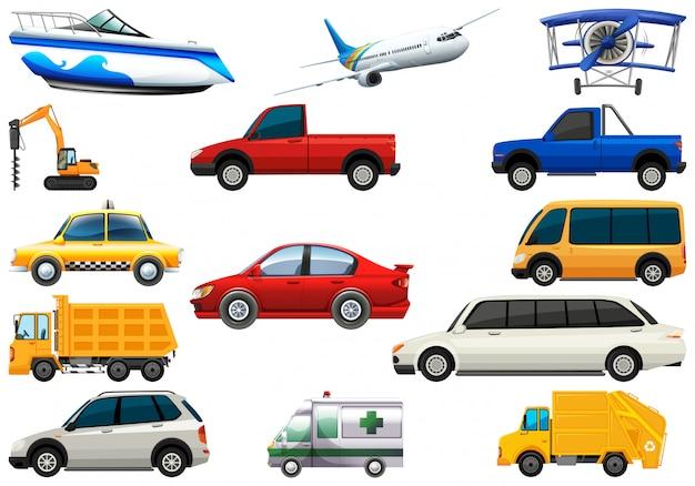 Set di veicoli di trasporto