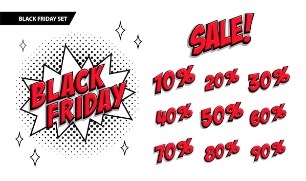 Set di vendita del black friday