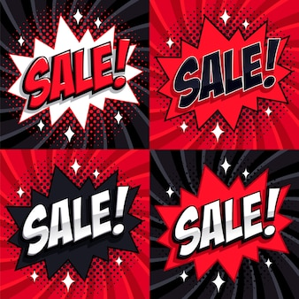 Set di vendita del black friday