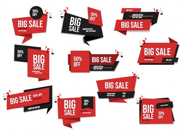 Set di vendita di banner moderno