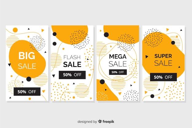 Set di vendita di storie di instagram