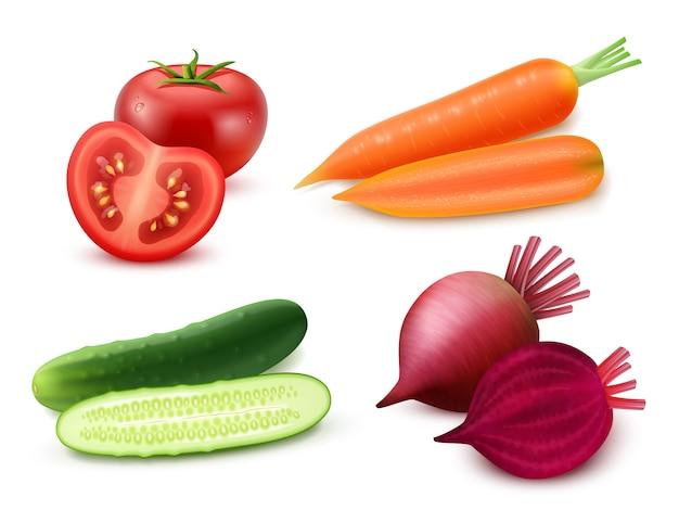 Set di verdure realistiche