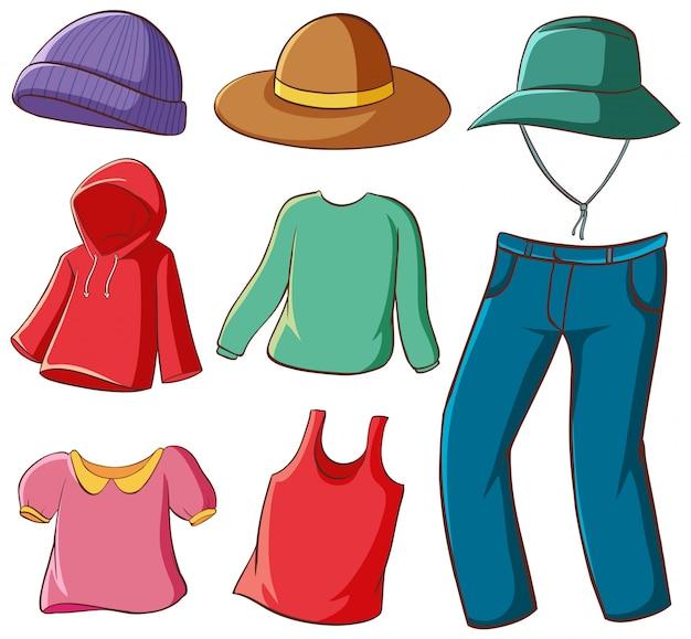 Set di vestiti isolato