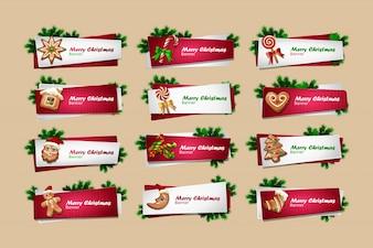 Set di vettore Anno Nuovo banner
