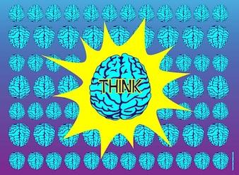 Set di vettore blu cervelli
