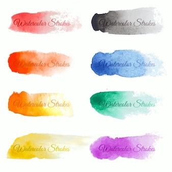 Set di vettore colorato pennellate