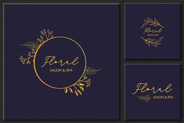 Set di vettore di cornici floreali disegnati a mano