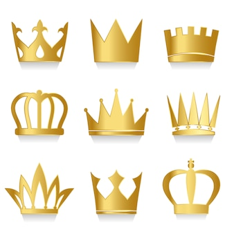 Set di vettore di corone reali
