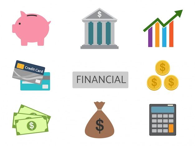 Set di vettore di finanza