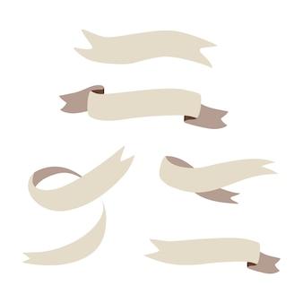 Set di vettore di nastri vuoti