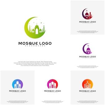 Set di vettore di progettazione logo islamico