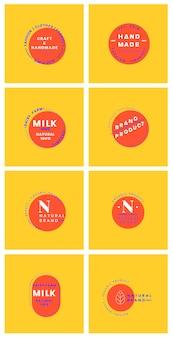 Set di vettori di design distintivo logo