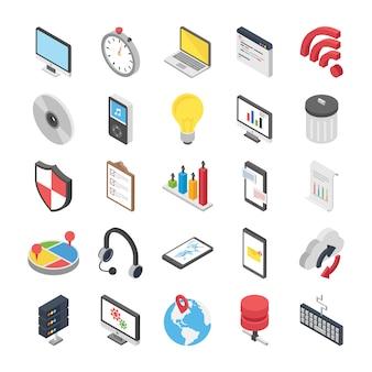 Set di vettori web 3d
