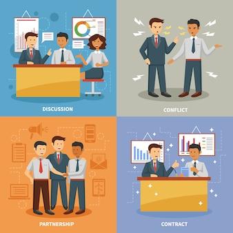 Set di vita aziendale