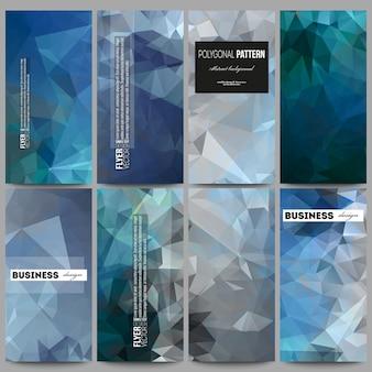Set di volantini con abstract