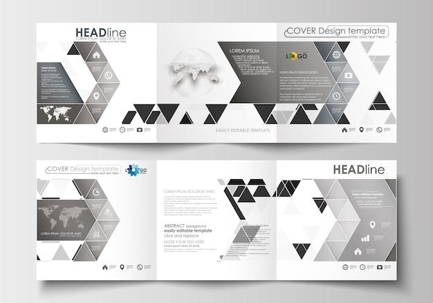 Set di volantini, striscioni moderni. modelli di business modello di copertina design vettoriale