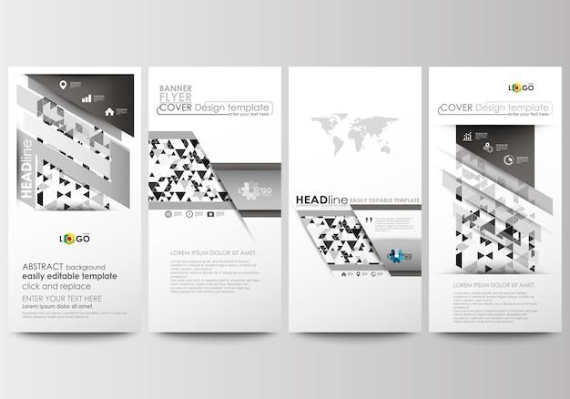 Set di volantini, striscioni moderni. modelli di business modello di copertina