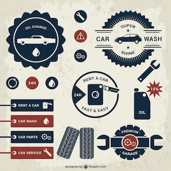 Set distintivi del modello di auto