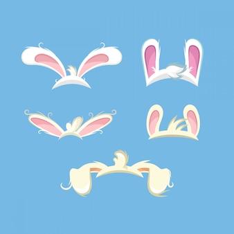 Set divertenti orecchie da coniglio