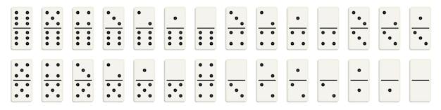 Set domino, ossa di domino, 28 pezzi.