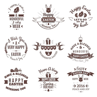 Set emblema di pasqua