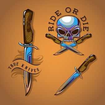 Set emblema moto cromato