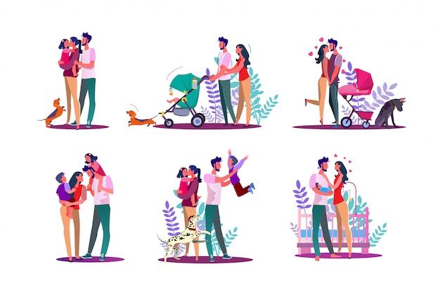 Set famiglia felice
