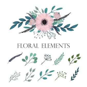 Set floreale vettoriale