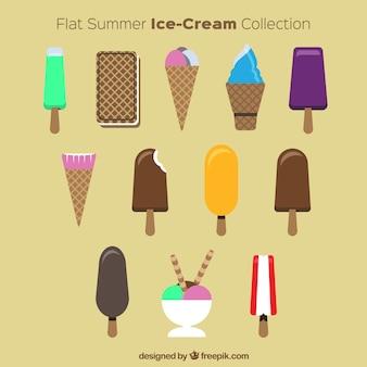 Set gelati piatto estate