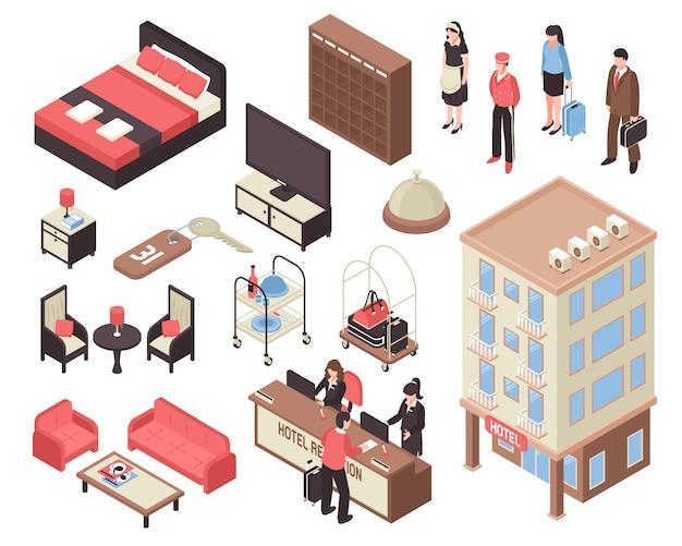 Set hotel isometrico