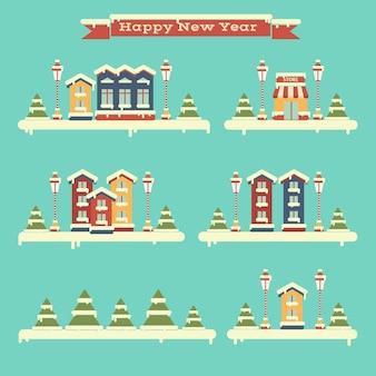 Set invernale di case