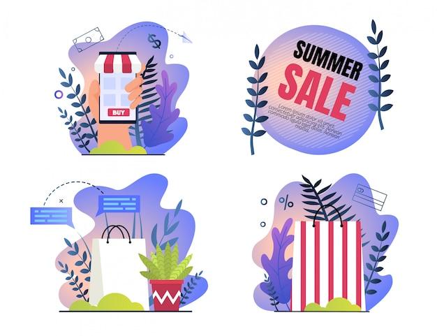 Set invito poster è scritto vendita estiva.