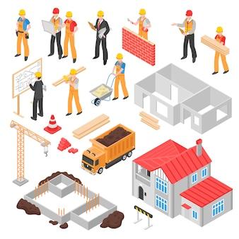 Set isometrico di costruzione