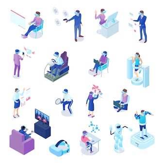 Set isometrico di realtà virtuale