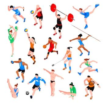 Set isometrico di sport