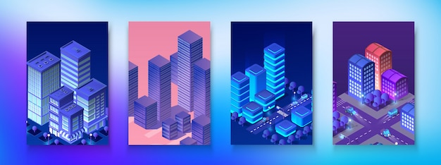 Set isometrico modulo città