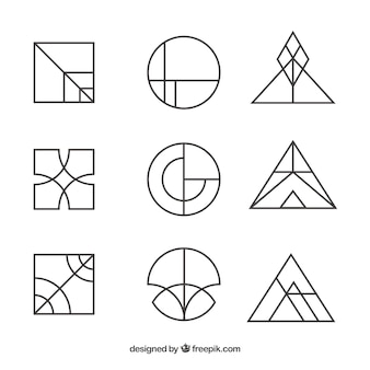Set logo semplice monoline logo creativo