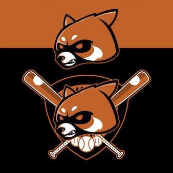 Set logo sportivo panda rosso