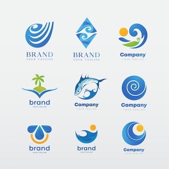Set modello di logo, ispirazione identità