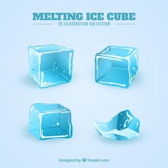 Set moderno di cubetti di ghiaccio