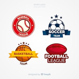 Set moderno di loghi sportivi astratti