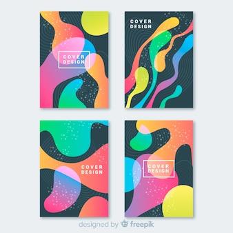 Set moderno di modelli di copertina astratti