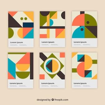 Set moderno di modelli di copertura con design geometrico