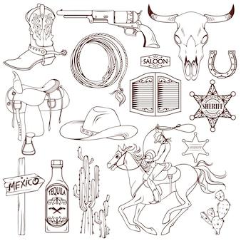 Set monocromatico selvaggio west